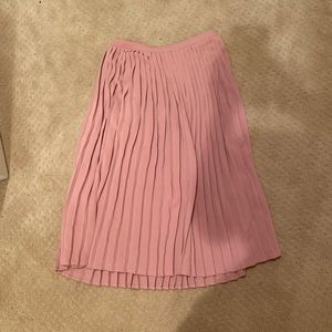 Abercrombie Pink Midi Pleated Skirt